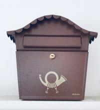 Briefkasten Posthorn Schwarz