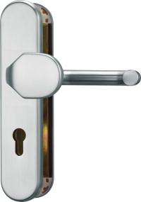 Schutzbeschlag Aluminium ohne Kernziehschutz, F1 Silber