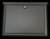 Briefkasten mit Einwurfklappe -  Grau