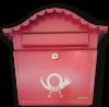 Briefkasten Posthorn Rot