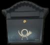 Briefkasten Posthorn Braun